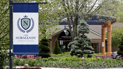The Normandy Care Center is shown, Tuesday, May 19, 2020, in Rocky River, Ohio.