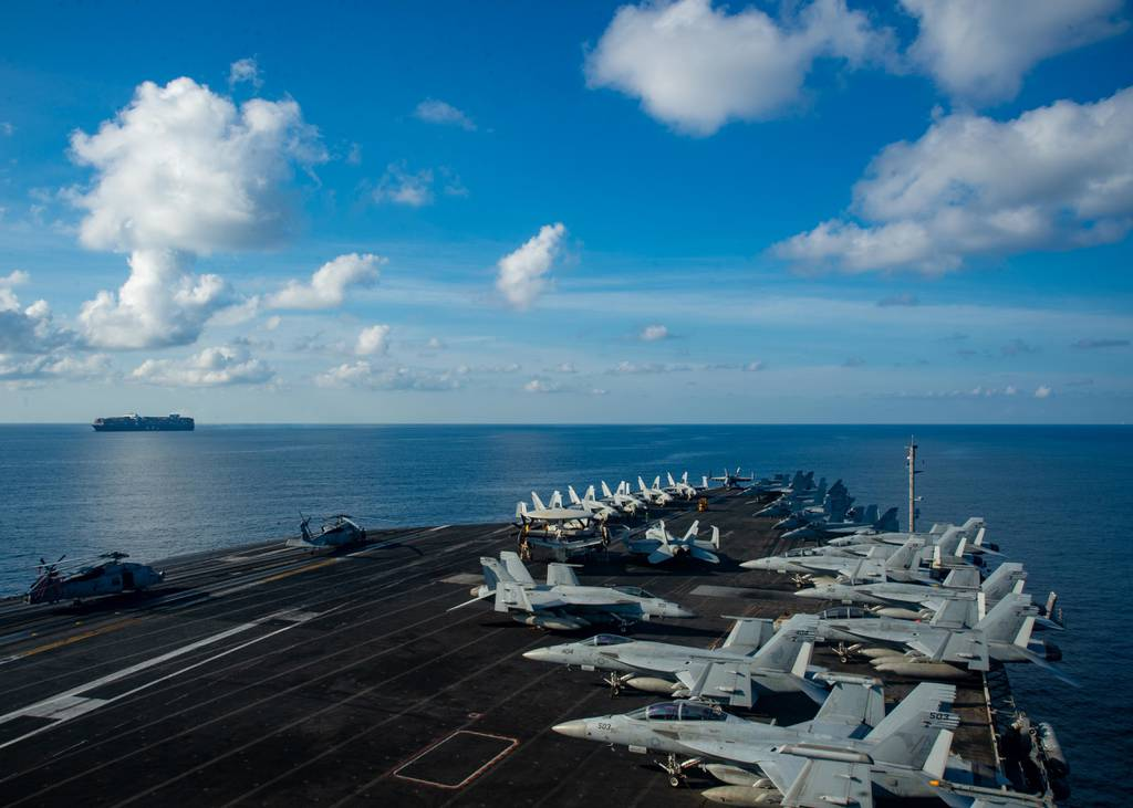 Carrier Reagan back in South China Sea following Afghanistan withdrawal