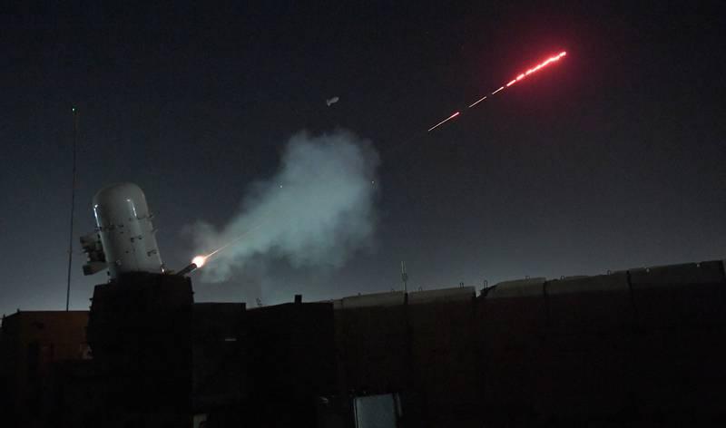 A Counter Rocket, Artillery, Mortar weapon system is test fired on Kandahar Airfield, Afghanistan, Jan. 13, 2018.