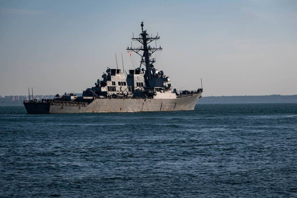 The Arleigh Burke-class guided-missile destroyer USS Carney (DDG 64) prepares to go underway in the Black Sea on July 2 during exercise Sea Breeze 2019 in Odesa, Ukraine.